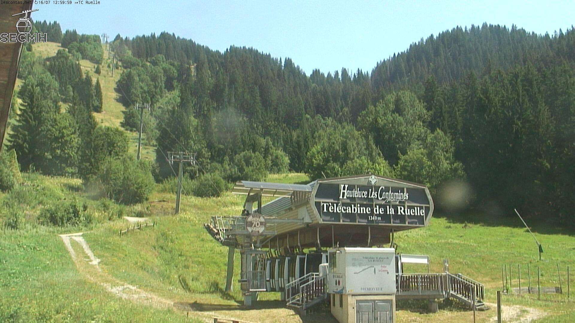 webcams de la station de ski Les Contamines