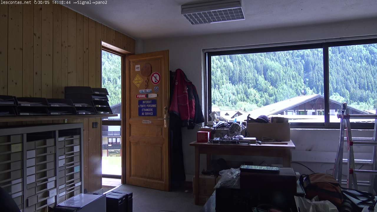 webcam Contamines ski resort